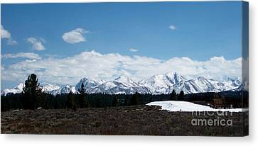 Snow Caps  Canvas Print by The Kepharts