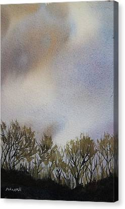 Snow Coming Canvas Print by Becky Chappell