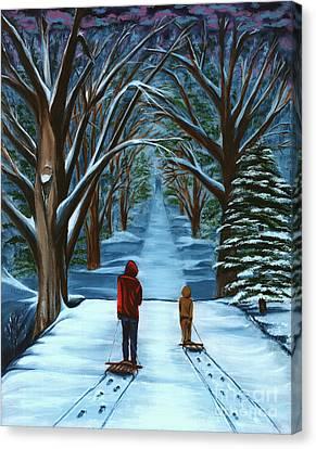 Snow Day Canvas Print