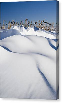 Snow Drifts On A Hill Canvas Print by Philippe Widling