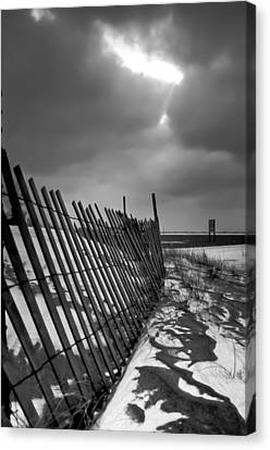 Headlands Canvas Print - Snow Fence by At Lands End Photography