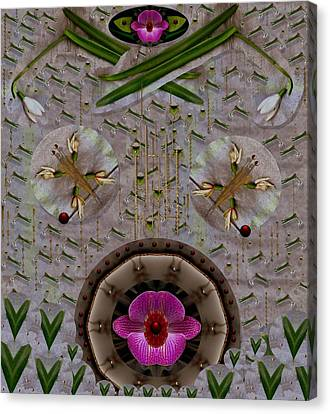 Snow Flowers And Orchids In Heavenly Wisdom Canvas Print by Pepita Selles