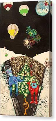 Snow Globe Canvas Print by Lisa Kramer