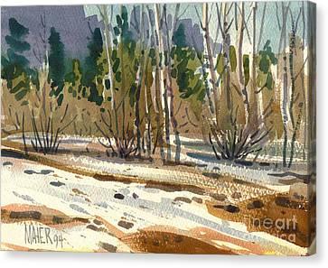 Snow Melt Canvas Print by Donald Maier