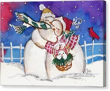 Snow People Canvas Print by Sylvia Pimental