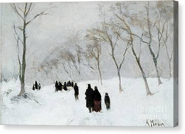 Snow Storm Canvas Print by Anton Mauve