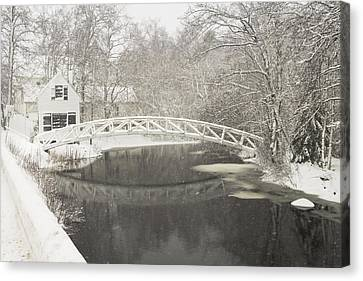 Snow Storm In Somesville Mount Desert Island Maine Photograph Canvas Print by Keith Webber Jr