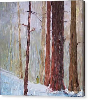 Snow Walker Canvas Print