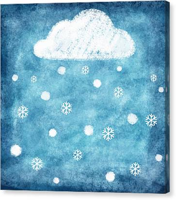 Sticky Note Canvas Print - Snow Winter by Setsiri Silapasuwanchai