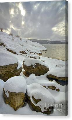 Snow-covered Landscape Canvas Print - Snowcapped by Idaho Scenic Images Linda Lantzy