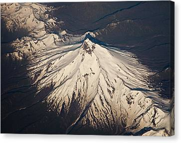 Snowcovered Volcano Andes Chile Canvas Print by Colin Monteath