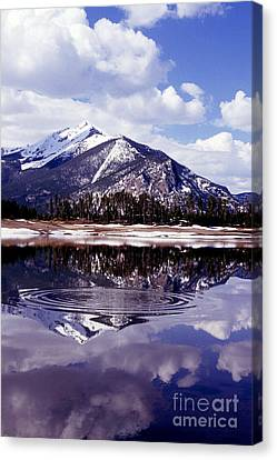 Snowmelt Runoff In The Rocky Mountains Canvas Print by Science Source