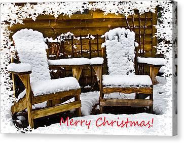 Snowy Coffee Holiday Card Canvas Print