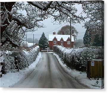 Snowy Day Canvas Print by Karen Grist