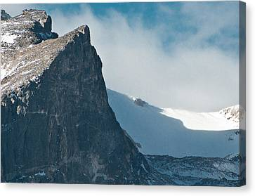 Snowy Flatirons Canvas Print by Colleen Coccia