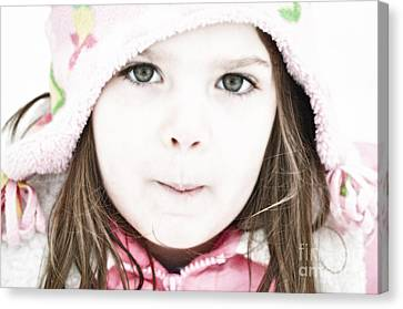 Snowy Innocence Canvas Print by Gwyn Newcombe