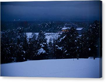 Snowy Night Canvas Print by Christina Durity
