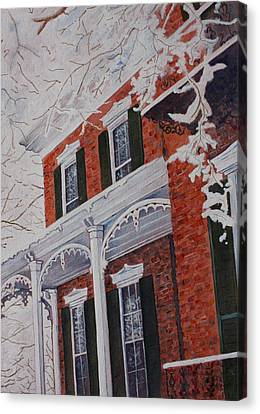Snowy Yesteryear Canvas Print
