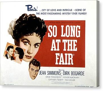 So Long At The Fair, Dirk Bogarde, Jean Canvas Print