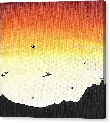 Soaring Sunset 2 Canvas Print by Jera Sky