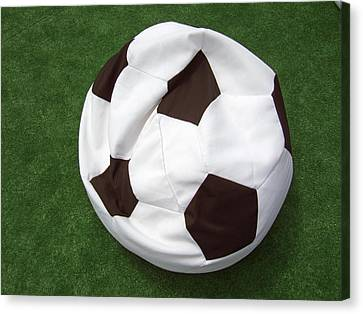 Soccer Ball Seat Cushion Canvas Print by Matthias Hauser