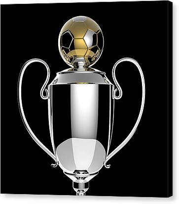 Soccer Golden Award Trophy. Canvas Print