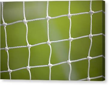 Soccer  Or Football  Goal Netting Canvas Print by Grant Faint