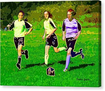 Soccer Canvas Print by Stephen Younts