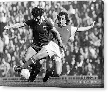 Soccer Tackle, 1976 Canvas Print by Granger