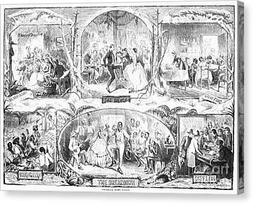 Social Activities, 1861 Canvas Print by Granger