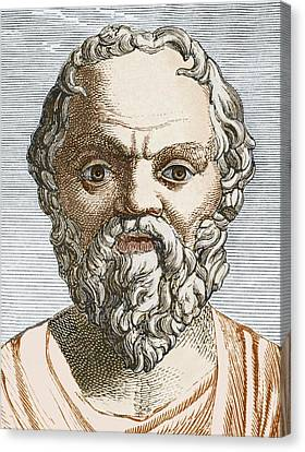 Socrates, Ancient Greek Philosopher Canvas Print by Sheila Terry
