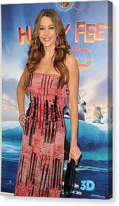 Sofia Vergara Wearing A Carolina Canvas Print
