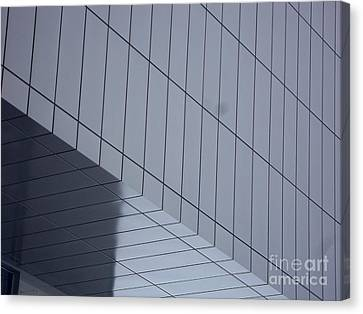 Soft Gray Glass Canvas Print