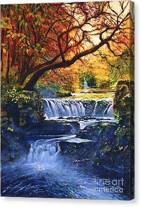 Soft Sounds Of Water Canvas Print by David Lloyd Glover