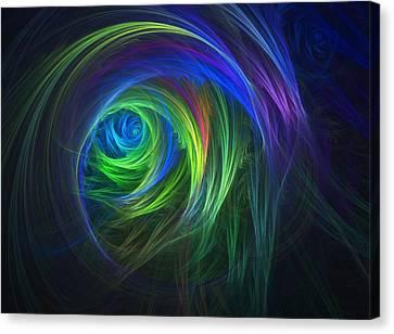 Soft Swirls Canvas Print by Lyle Hatch