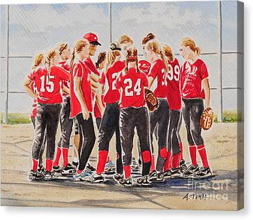 Softball Season Canvas Print