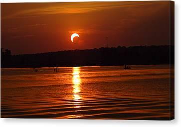 Solar Eclipse 2012 - Fort Worth Texas Canvas Print by Elizabeth Hart