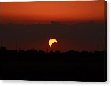Solar Eclipse 2012 Canvas Print by Linda Unger