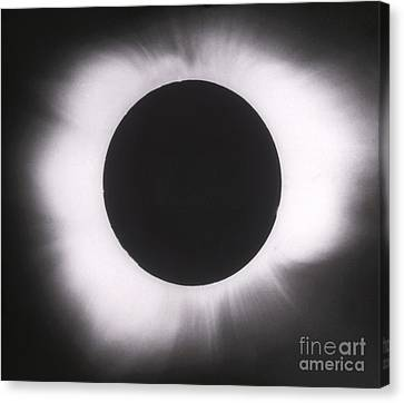 Solar Eclipse With Outer Corona Canvas Print by Science Source