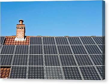 Solar Panels Canvas Print by Tom Gowanlock