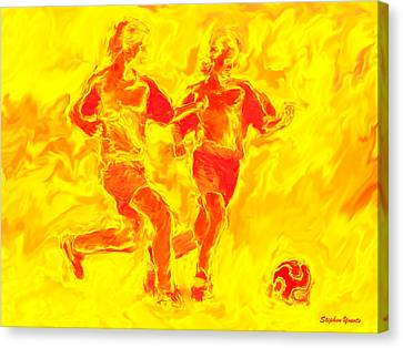 Solar Soccer Canvas Print by Stephen Younts