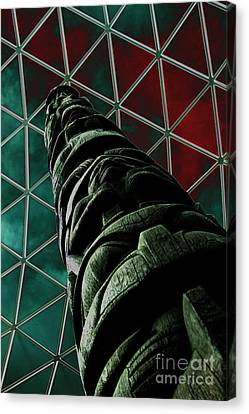 Solarised Totem Pole Canvas Print by Urban Shooters