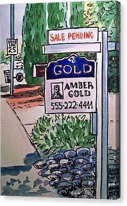 Sold Sketchbook Project Down My Street Canvas Print by Irina Sztukowski