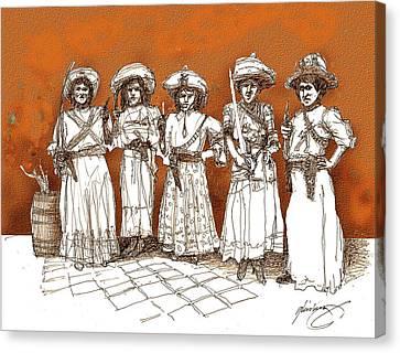 Soldaderas Mexicanas Canvas Print