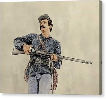Soldier Of Gettysburg Canvas Print by Randy Steele