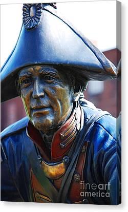 Bravery Canvas Print - Soldier Sculpture In Paducah Ky by Susanne Van Hulst