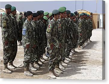 Soldiers Of The Afghan National Army Canvas Print by Stocktrek Images