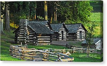 Canvas Print featuring the photograph Soldiers Quarters At Valley Forge by Cindy Manero