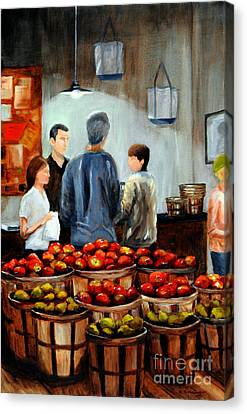 At The Market Canvas Print by Cindy Roesinger