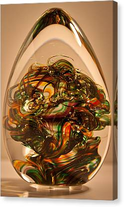 Solid Glass Sculpture E1p Canvas Print by David Patterson
